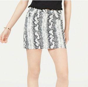 Tinseltown Snake Print Mini Skirt - Size 15/32